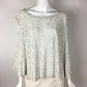 Victorias Secret Swing Top Flowy Gray Flax Blend M